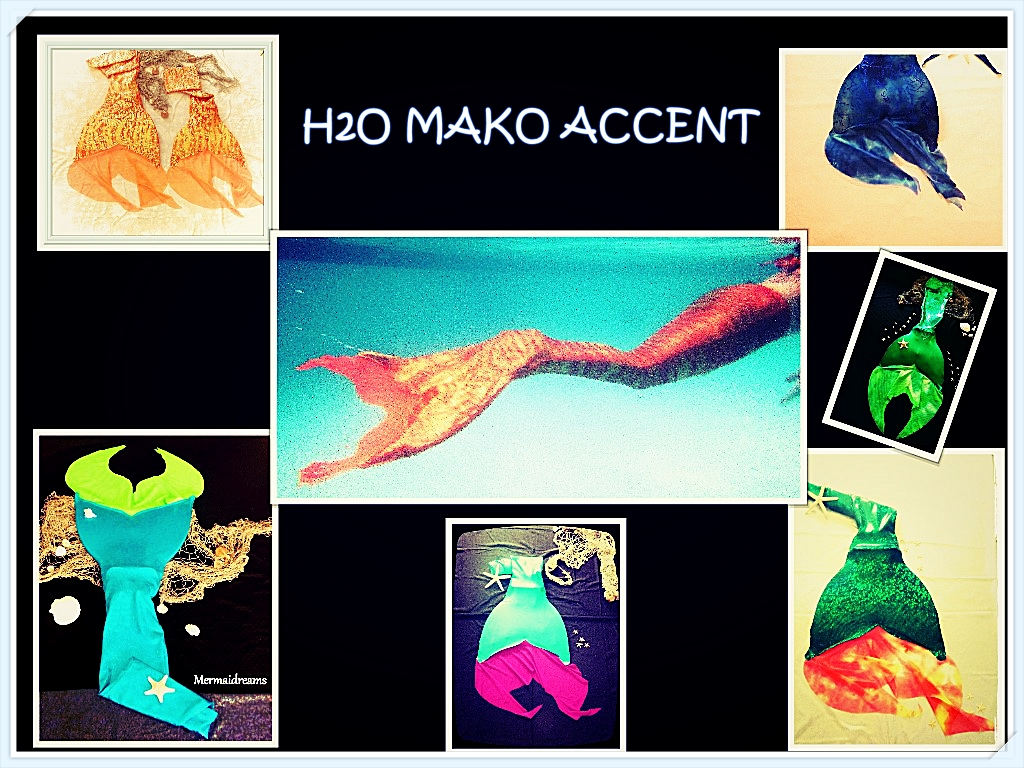MERMAID TAIL H2O MAKO EDITION. BEST QUALITY, TAILORED JUST FOR YOU BY MERMAIDREAMS